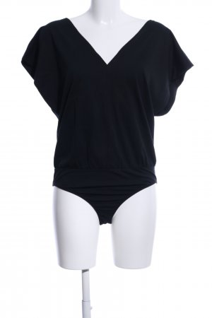 Zara Bodyblouse zwart casual uitstraling