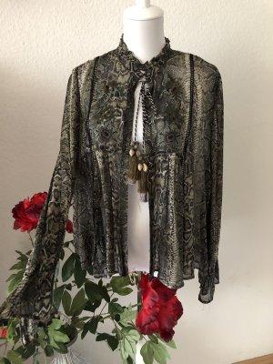 Zara Inserción de blusa multicolor