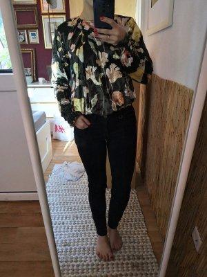 Zara Blusen Samtbody Flower