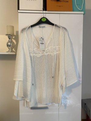 Zara Blusa kimono bianco