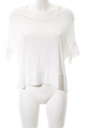 Zara Empiècement de blouses blanc style décontracté