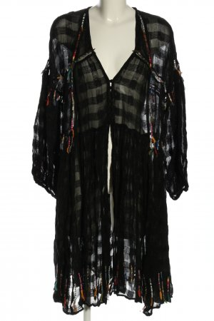 Zara Blousejack zwart geruite print casual uitstraling