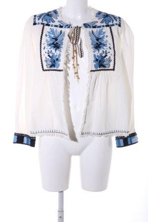 Zara Chaqueta tipo blusa estampado con diseño abstracto look casual