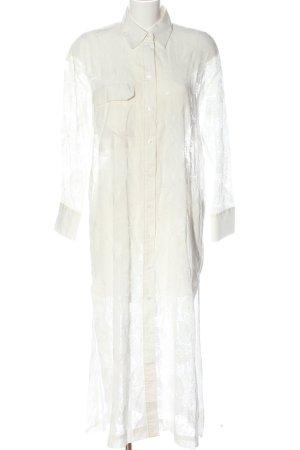 Zara Robe chemisier blanc Motif de tissage style d'affaires