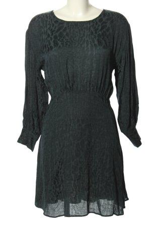 Zara Abito blusa grigio chiaro motivo astratto stile professionale