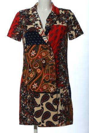 Zara Blusenkleid abstraktes Muster Casual-Look