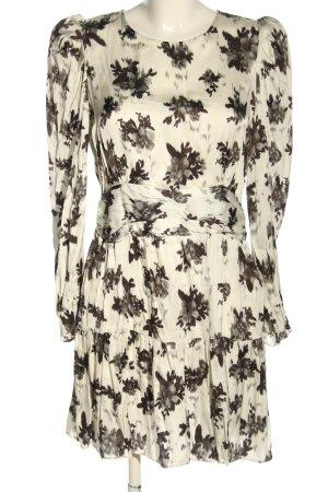 Zara Blusenkleid wollweiß-schwarz abstraktes Muster Elegant