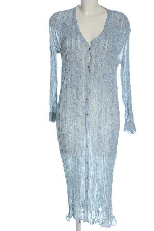 Zara Robe chemisier bleu motif abstrait style décontracté