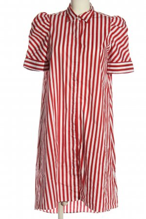 Zara Blusenkleid weiß-rot Allover-Druck Casual-Look