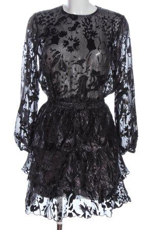 Zara Blusenkleid schwarz abstraktes Muster Elegant
