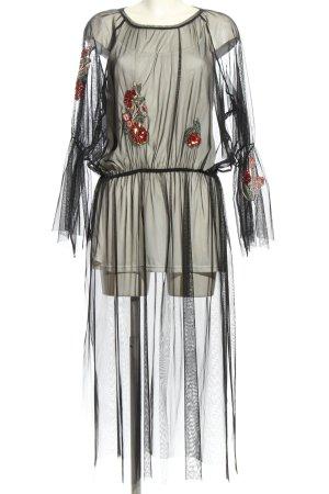 Zara Blusenkleid schwarz Blumenmuster extravaganter Stil