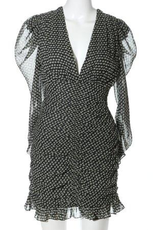 Zara Blusenkleid schwarz-weiß Allover-Druck extravaganter Stil