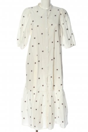 Zara Blousejurk wit-zwart gestippeld patroon casual uitstraling