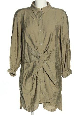 Zara Blusenkleid khaki Business-Look