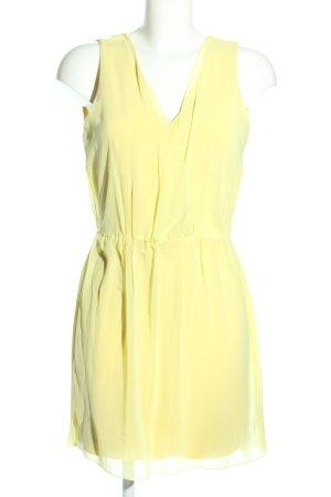 Zara Blusenkleid blassgelb Casual-Look