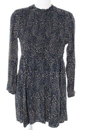 Zara Blusenkleid blau-creme abstraktes Muster Casual-Look