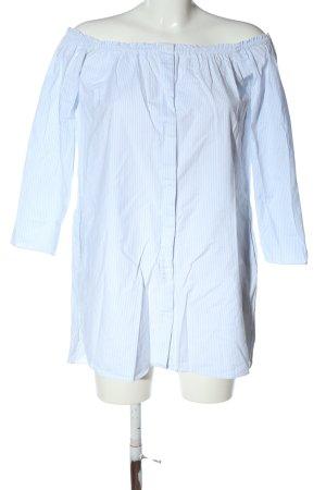 Zara Blusenkleid blau-weiß Streifenmuster Casual-Look