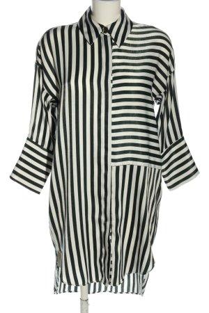 Zara Blusenkleid schwarz-weiß Streifenmuster Casual-Look