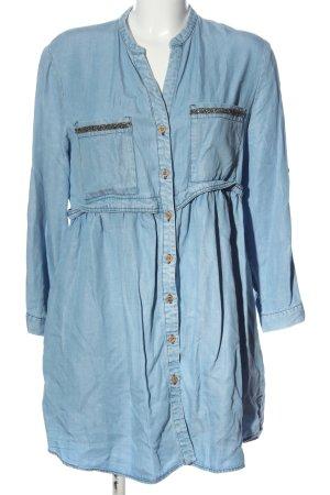 Zara Blusenkleid blau Casual-Look