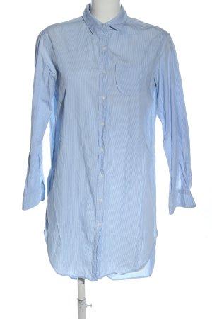 Zara Blusenkleid weiß-blau Allover-Druck Casual-Look