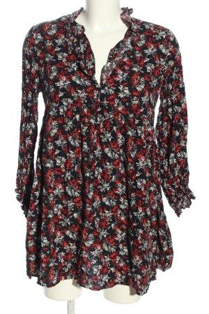 Zara Blusenkleid Allover-Druck Business-Look