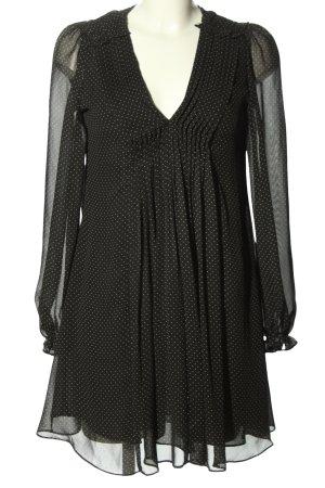 Zara Blusenkleid schwarz-weiß Allover-Druck klassischer Stil