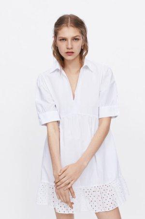 Zara Blusenkleid | Gr. M | weiß