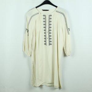 Zara Blusenkleid Gr. XL weiß gemustert (20/06/130)