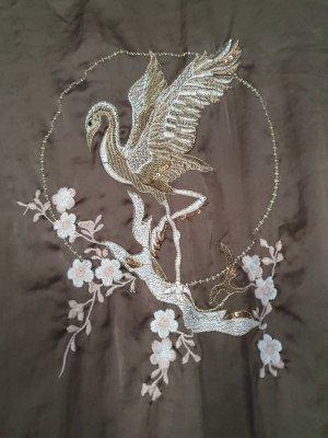 Zara Blusenkleid khaki