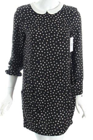 Zara Blusenkleid schwarz-weiß Punktemuster Vintage-Look