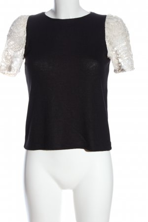 Zara Blusenshirt schwarz-weiß Business-Look