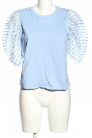 Zara Blusenshirt blau Casual-Look