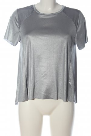 Zara Blusenshirt silberfarben Casual-Look