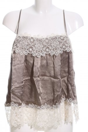 Zara Blouse Top brown-natural white elegant
