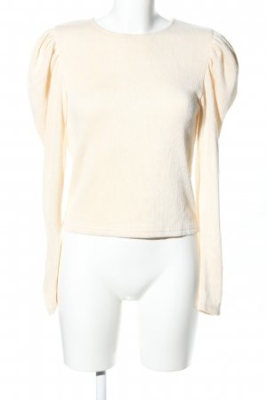 Zara Blusa crema stile professionale