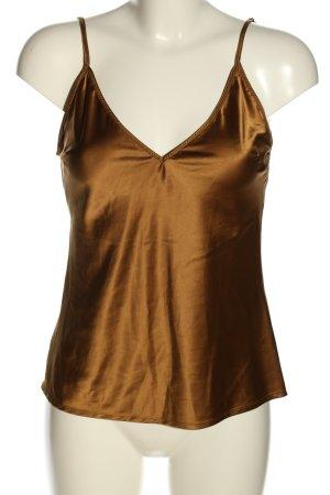 Zara Blusentop bronzefarben Casual-Look