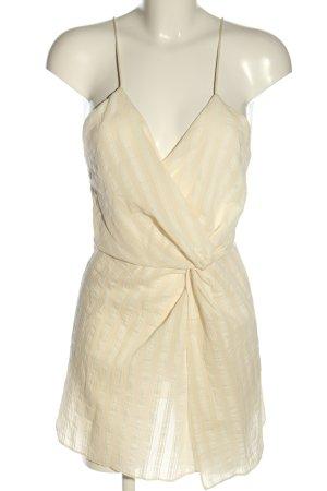 Zara Blusentop creme-weiß Streifenmuster Casual-Look