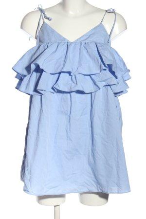 Zara Blusentop blau Casual-Look