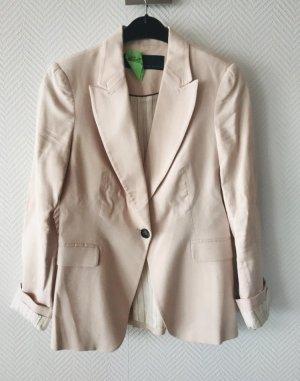 Zara Blazer stile Boyfriend rosa pallido-rosa antico