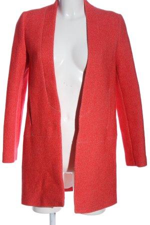 Zara bodenlanger Mantel rot Casual-Look