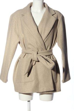 Zara Cappotto corto bianco sporco stile casual
