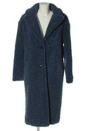 Zara Cappotto lungo fino a terra blu stile casual