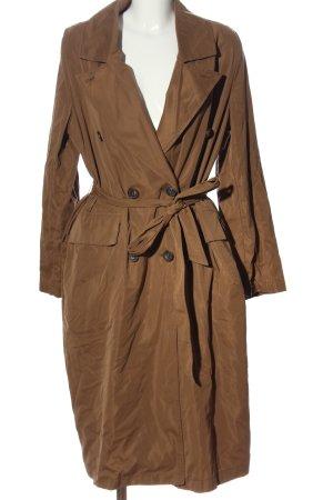 Zara Abrigo largo marrón look casual