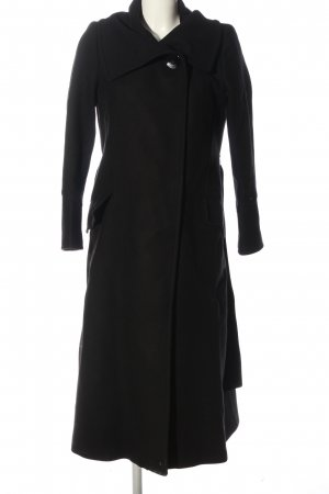Zara bodenlanger Mantel schwarz Casual-Look