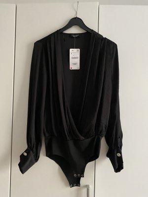 Zara Body schwarz mit schmucksteinen S