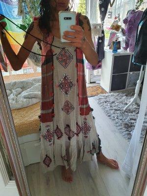 Zara Boheme Hippie kleid Ethno mit Bommeln neu gr.xs