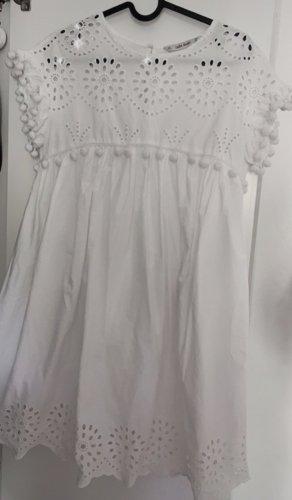 Zara Vestito peplo bianco