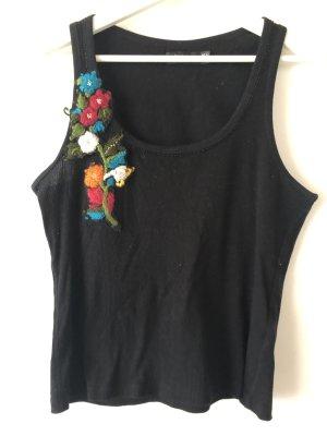 Zara - Boho Top - schwarz - Blumen - L