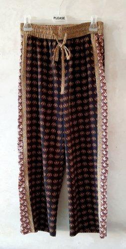 Zara Boho wide leg trousers S