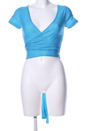 Zara Bolero blau-weiß Punktemuster Elegant